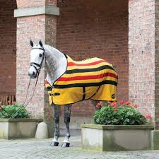 Masta Fleece Rug Ascot Stripe Suede Gold